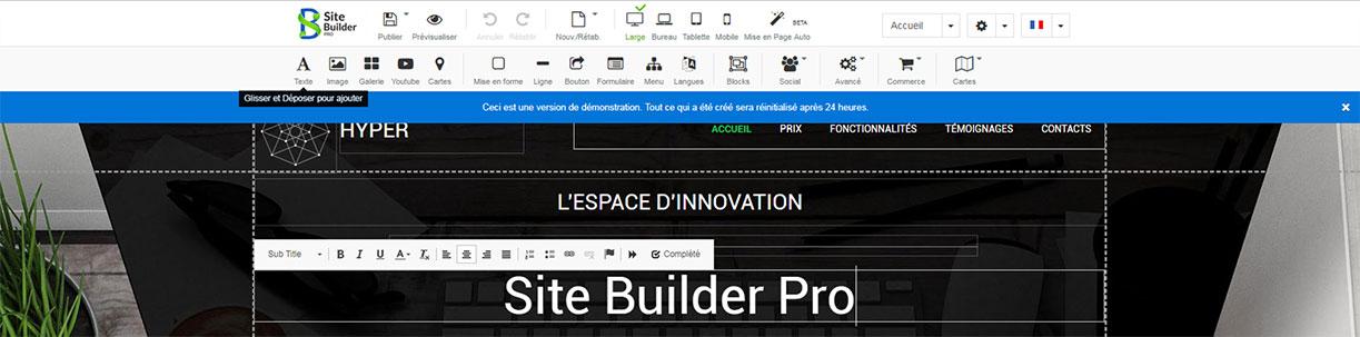 Logo du logiciel Site Builder Pro