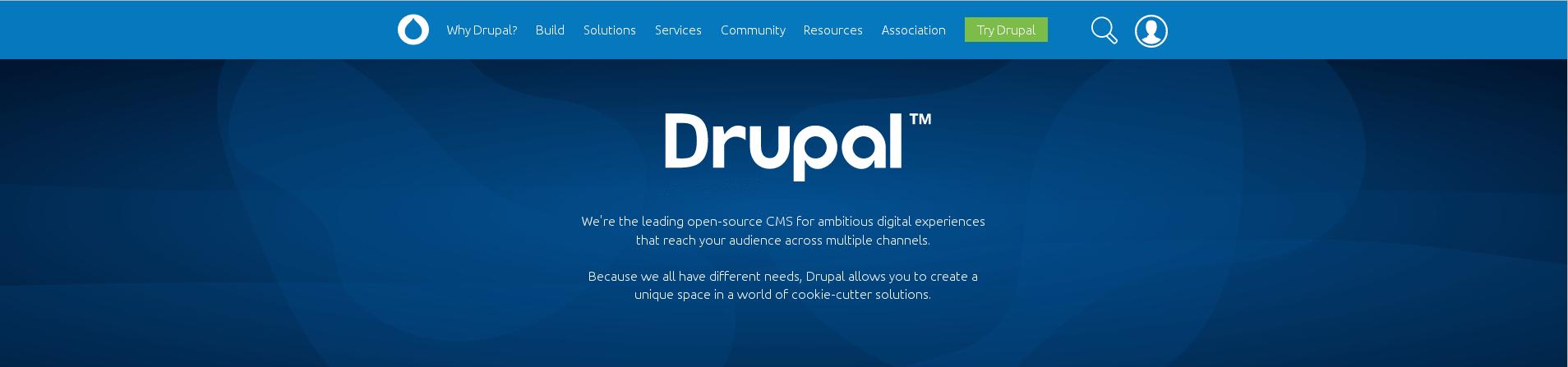 Logo du logiciel Drupal