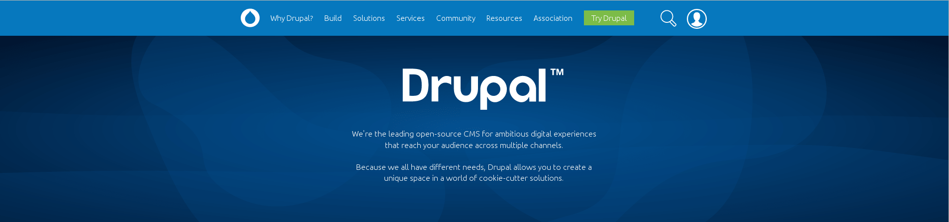Aperçu du site du logiciel Drupal