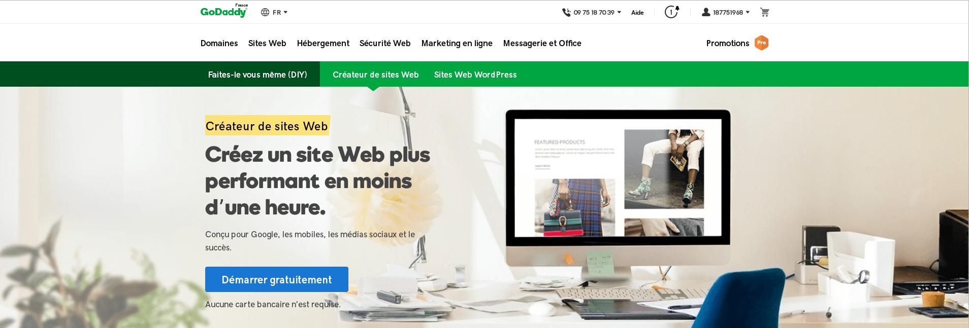 Logo du logiciel GoDaddy WebSite Builder
