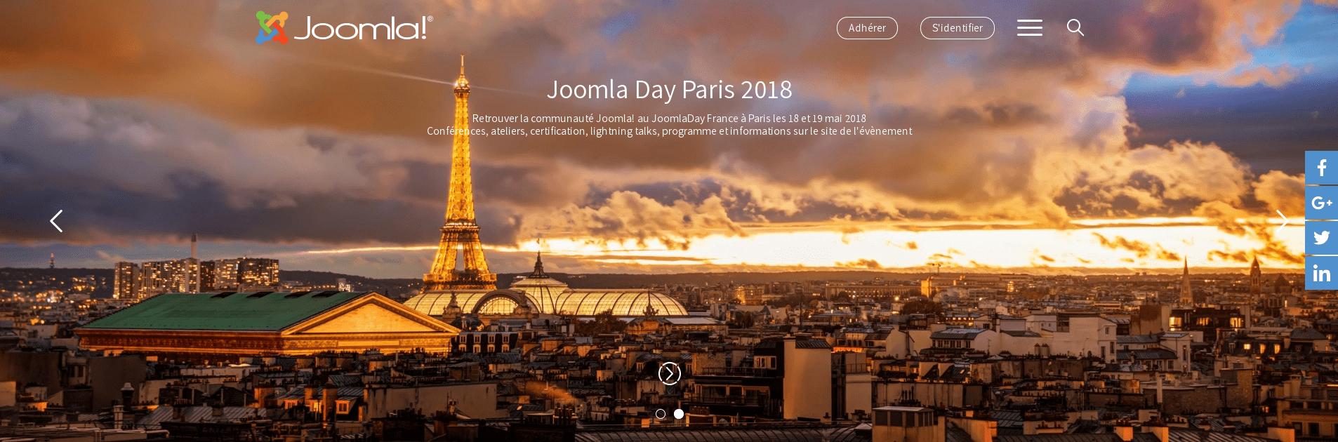 Aperçu du site du logiciel Joomla