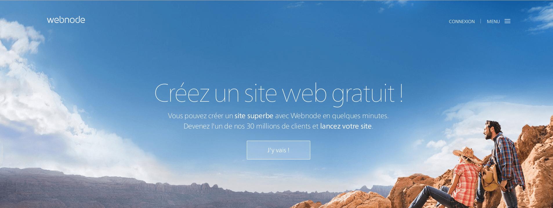 Aperçu du site du logiciel Webnode