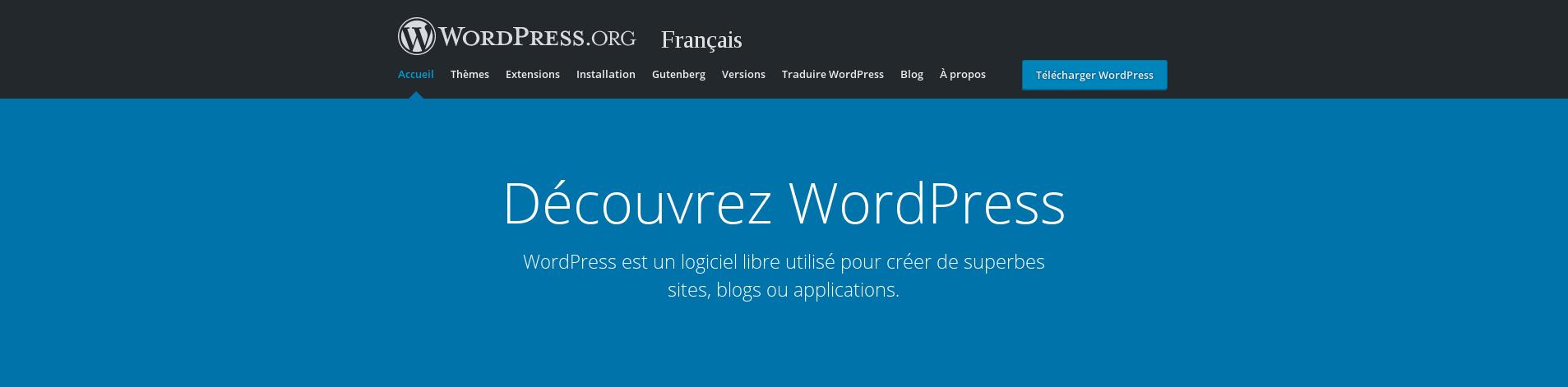 Logo du logiciel WordPress