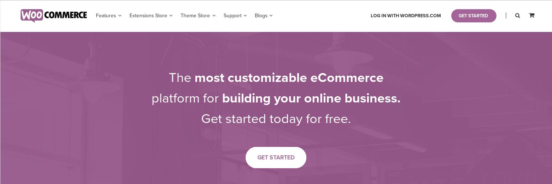 Aperçu du site du logiciel WooCommerce